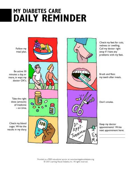 how to write a care plan for diabetes