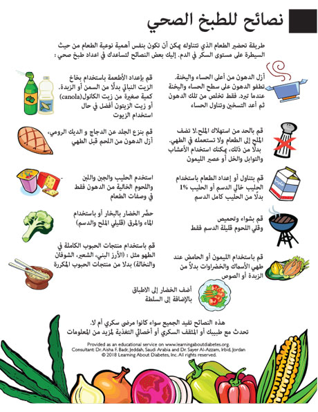 Diabetes Care - Infographics in Arabic | Learning About Diabetes